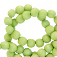 Wooden beads round 8mm Lime Green