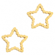 Stainless steel charms/connector star Gold