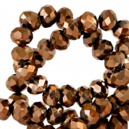 Top faceted beads 6x4mm disc Sierra Copper Metallic