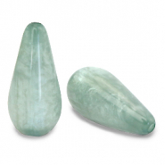 Polaris Elements drop shaped beads Mosso shiny Granite Green
