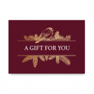 "Jewellery cards ""A gift for you"" Red"