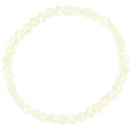 Top faceted bracelets 6x4mm Off White-Pearl Shine Coating