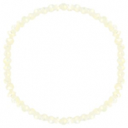 Top faceted bracelets 4x3mm Off White-Pearl Shine Coating