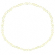 Top faceted bracelets 3x2mm Off White-Pearl Shine Coating