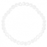 Top faceted bracelets 6x4mm Crystal-Pearl Shine Coating