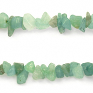 Chips stone beads Ocean  Green