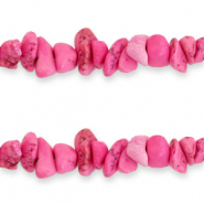 Chips stone beads Hot Pink