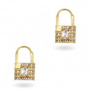 Zirconia earrings Gold