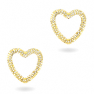 Zirconia heart connector Gold