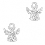 Plexx charms angel glitter Silver