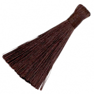 Tassels 8cm Dark brown