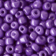 Glass seed beads 6/0 (4mm) Tillandsia Purple