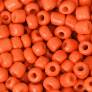 Glass seed beads 6/0 (4mm) Fiery Orange
