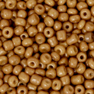 Glass seed beads 8/0 (3mm) Sierra Brown