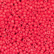 Glass seed beads 12/0 (2mm) Azalea Red
