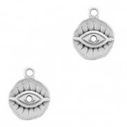 DQ European metal charms Eye of Providence Antique Silver (nickel free)