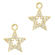 Zirconia charm star Gold