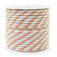 Maritime cord 2mm Turquoise-Pink