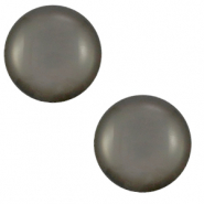 12 mm classic Polaris Elements cabochon Shiny Titanium Grey