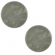 20 mm flat Polaris Elements cabochon Lively Titanium Grey