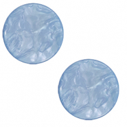 20 mm flat Polaris Elements cabochon Lively Provence Blue