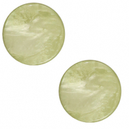 20 mm flat Polaris Elements cabochon Lively Willow Green