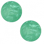 20 mm flat Polaris Elements cabochon Lively Alhambra Green