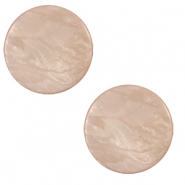 20 mm flat Polaris Elements cabochon Lively Quartz Pink