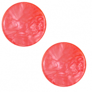 20 mm flat Polaris Elements cabochon Lively Amarena Red