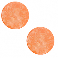20 mm flat Polaris Elements cabochon Lively Vibrant Orange
