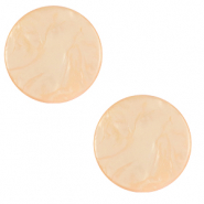 20 mm flat Polaris Elements cabochon Lively Blushing Peach