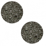 12 mm flat Polaris Elements cabochon Goldstein Titanium Grey