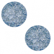 12 mm flat Polaris Elements cabochon Goldstein Provence Blue