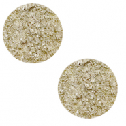 12 mm flat Polaris Elements cabochon Goldstein Desert Mist Brown