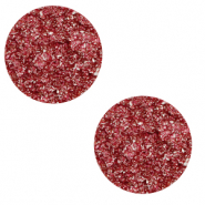12 mm flat Polaris Elements cabochon Goldstein Amarena Red