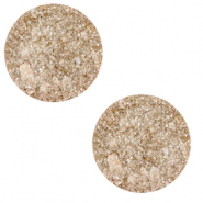 12 mm flat Polaris Elements cabochon Goldstein Blushing Peach