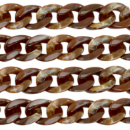 Acrylic chain 22mm Brown