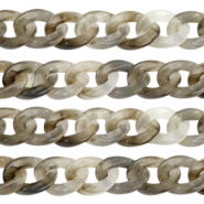 Acrylic chain 19mm Grey