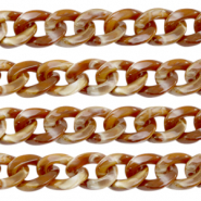 Acrylic chain 19mm Brown
