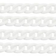 Acrylic chain 19mm White