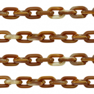 Acrylic chain 15mm Brown