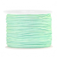 Macramé bead cord 1.0mm Soft Turquoise Green