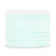 Macramé bead cord 1.0mm Frosted Blue