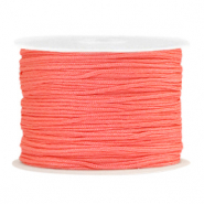 Macramé bead cord 1.0mm Coral Red