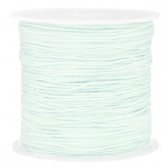 Macramé bead cord 0.8mm Frosted Blue