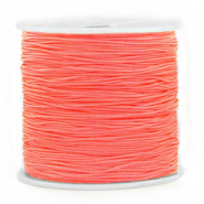 Macramé bead cord 0.8mm Coral Red