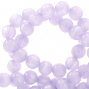 Polaris beads round 6 mm Mosso shiny Pastel Lilac