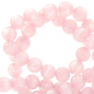 Polaris beads round 6 mm Mosso shiny Hortensia Pink