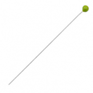 DQ European metal findings headpin 52mm Antique Silver-Green (nickel free)