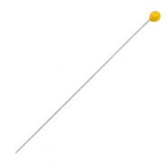 DQ European metal findings headpin 52mm Antique Silver-Tropical Yellow (nickel free)